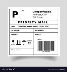 Shipping barcode label sticker template